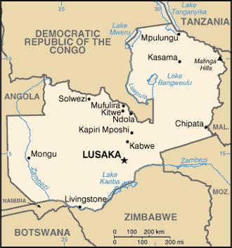 zambia-cartina