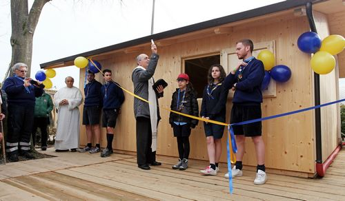 si inaugura la sede scout di Mirandola dopo il terremoto in Emilia