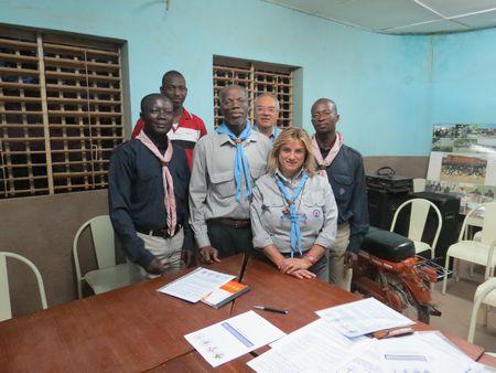 Burkina Faso: firma protocollo  con i capi scout sulla formazione